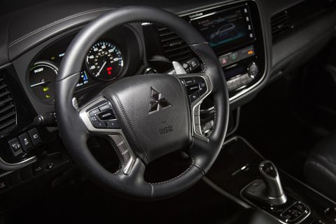 The 2018 Mitsubishi Outlander PHEV GT S-AWC offers three unique driving modes: ECO, battery save, and battery charge.