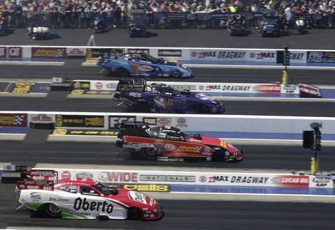 Sights from the action at the NHRA Four-Wide Nationals at zMax Dragway, Saturday April 28, 2018.