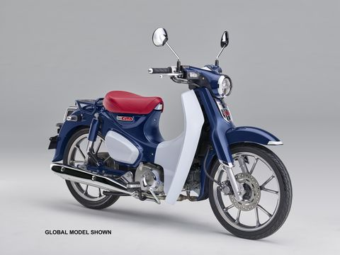 Honda says the Super Cub's step-through chassis is one of the key design elements which made the original Cub so popular.