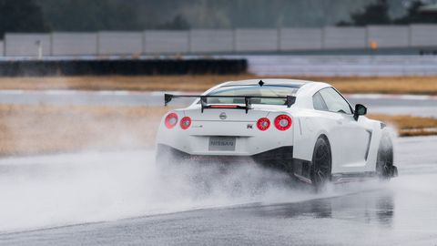 The 2020 Nissan GT-R Nismo delivers 600 hp from its 3.8-liter twin-turbo V6.