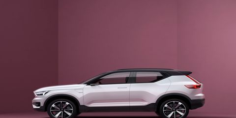 Volvo held a press conference May 18 about its new small car (40 series) and its new powertrain architectures.