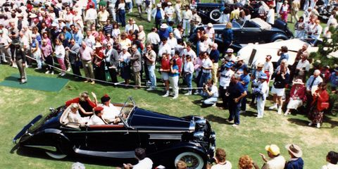 1935 Hispano-Suiza K6 Cabriolet at the 1986 Pebble Beach Concours d'Elegance