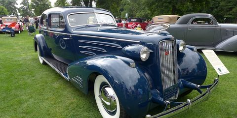 This stunning 1936 Cadillac V16 Aerodynamic coupe by Fleetwood caught our eye at last year's Concours d'Elegance of America.