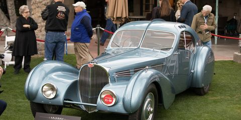 1936 Bugatti Type 57SC Atlantic owned by Peter and Merle Mullin and Rob and Melani Walton won best of show. No one argued with that selection.