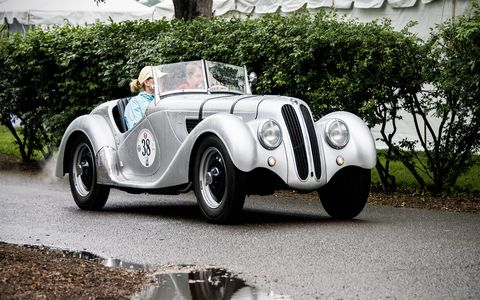 1938 BMW 328 Roadster.