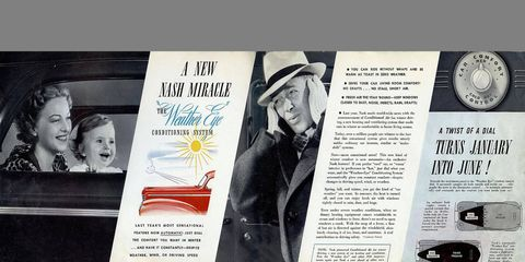 The Weather Eye heater made its debut in the 1939 Nash.