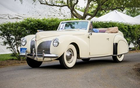 1940 Lincoln Continental.