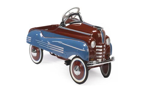Most of the pedal cars that will be offered have been restored.