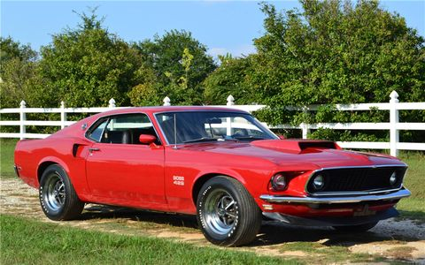 This 1969 Ford Mustang Boss 429 (Lot #749) hammered away at the highest price of the auction -- $357,500.