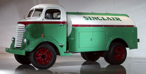 GM's commercial heritage is represented by vehicles like this 1945 GMC tanker.