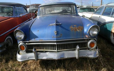 This 1955 Ford is one of about 100 cars from this marque.