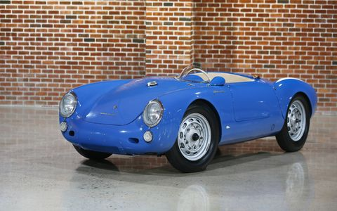 The 1955 Porsche 550 Spyder Roadster sold for $5,335,000.