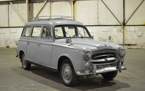 1958 Peugeot 403. Several dozen rare classics, most of them British, will roll across the block later in March.