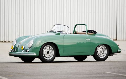 1958 Porsche 356 A 1500 GS/GT Carrera Speedster sold for $1,540,000.
