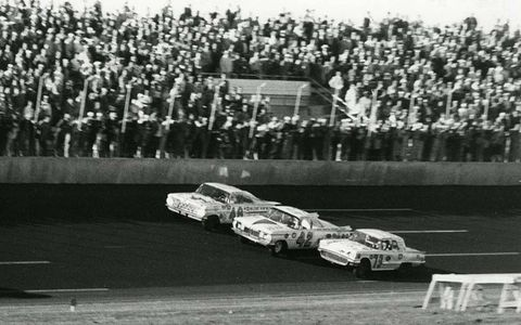 """1959: The very first 500 produced what remains one of its best finishes. Lee Petty edged Johnny Beauchamp at the line as the lapped car of Joe Weatherly made it a three-abreast finish. Beauchamp was declared the winner, but examination of a still photo by legendary photographer T. Taylor Warren and newsreel footage made it clear that Petty had finished first. Three days after the 500, NASCAR founder and track builder Bill France Sr. declared Petty the winner. It was the """"longest"""" 500."""