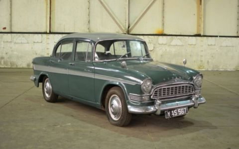 1960 Humber Super Snipe. Rare British cars from the Jaguar Land Rover collection will roll across the block in March.