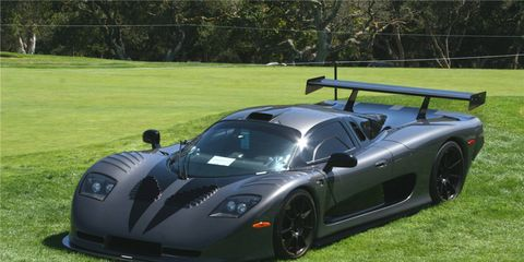 This Mosler MT900 prototype (Lot #744) was the fourth priciest car at the Barrett-Jackson Las Vegas auction and went for $220,000.