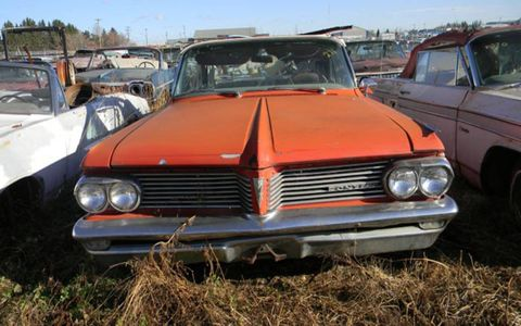 This 1962 Pontiac is one of the better preserved examples from the collection.