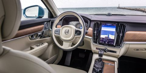 Compare this Volvo S90 interior to the current Tesla Model X interior, below.