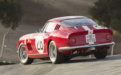 The first time this Ferrari raced Le Mans, in 1969, it placed first in class. Not an easy victory.