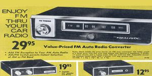 The sound quality of an FM tuner transmitting its signal through your car's AM radio was not great.
