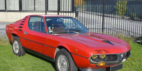 This 1975 Alfa Romeo Montreal will tempt collectors this weekend.