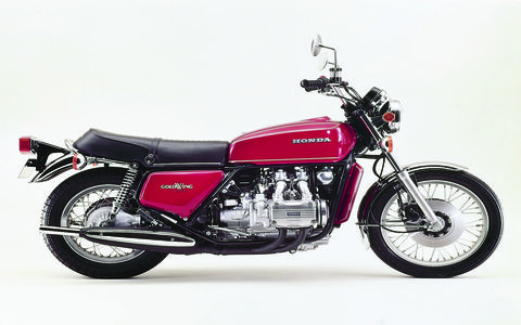Honda has been making Gold Wings for 43 years. Here is a 1975 GL1000.