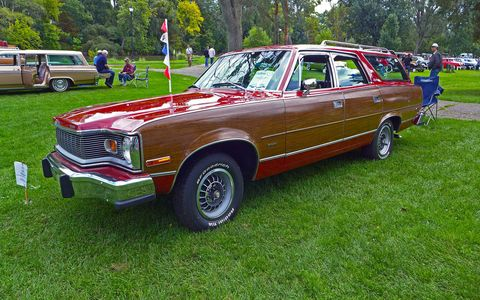 Wagons, like this 1976 AMC Matador, were the featured class.