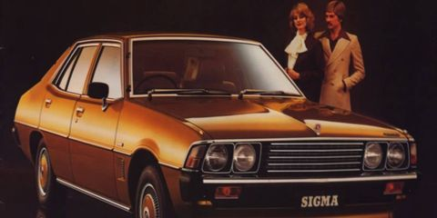 The Sigma's brown hubcaps match those brown lapels.