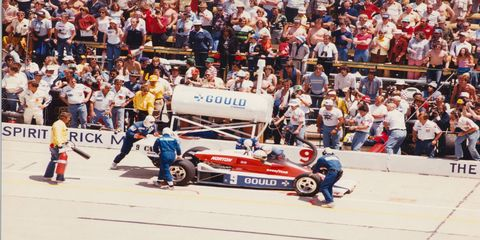Rick Mears, shown in 1979, won the Indy 500 pole six times between 1979 and 1991.