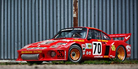 The 1979 Porsche 935 wearing its 1979 Le Mans-correct livery, not the eye-catching Apple job it picked up the next year.
