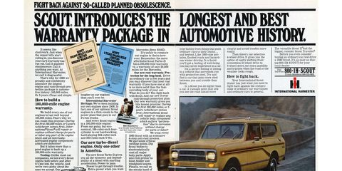Unfortunately, 1980 was the last year of Scout production. So-called planned obsolescence, indeed.