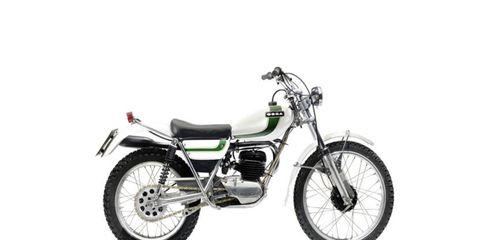 A 1980 Ossa 250cc MAR Trials Motorcycle.