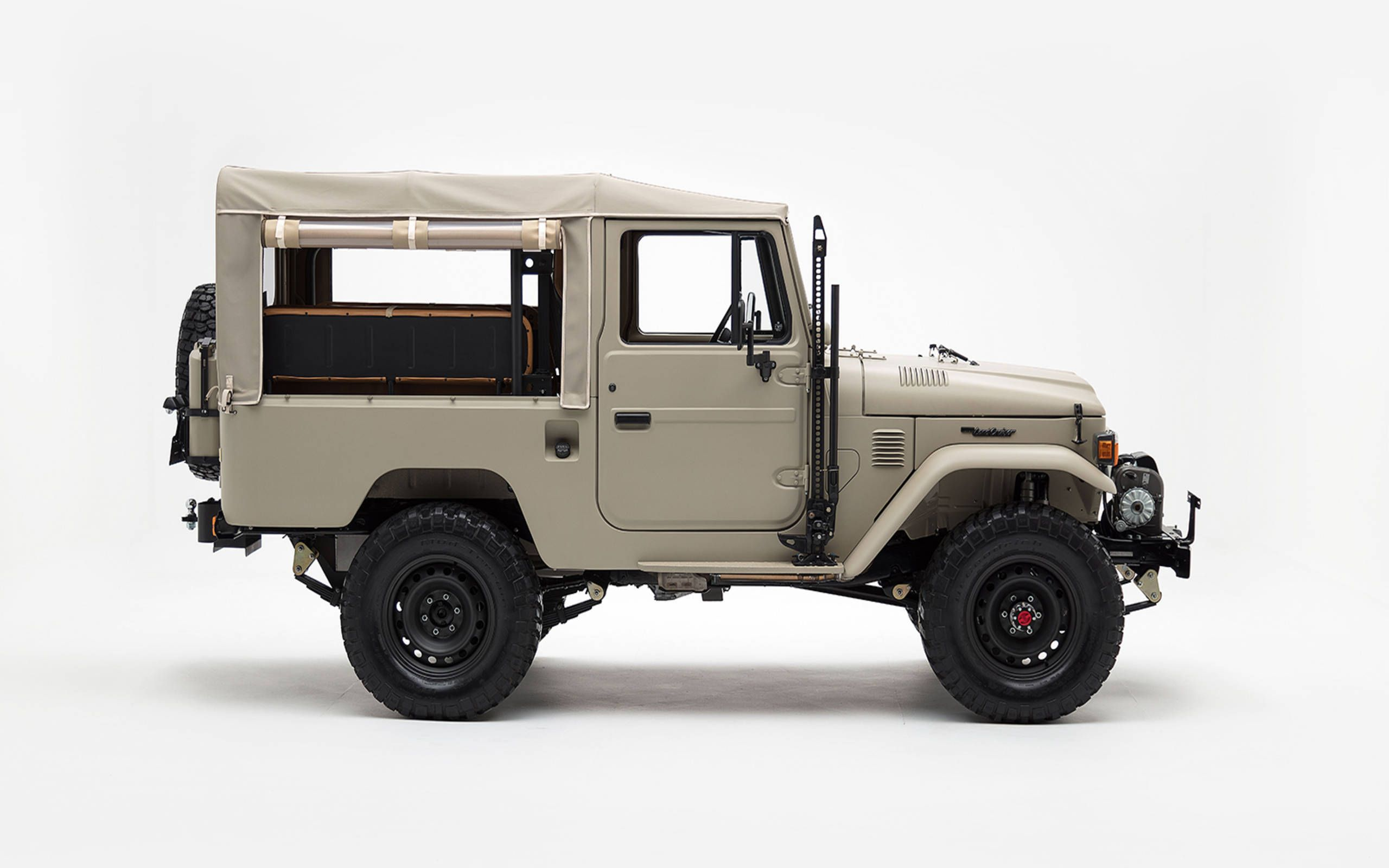 this classic toyota land cruiser gets updated for modern times without being over updated this classic toyota land cruiser gets