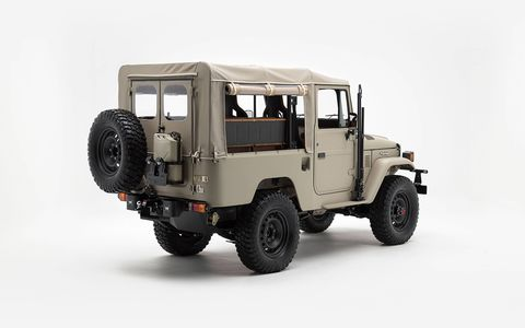 This 1981 FJ43 has been updated with a modern Toyota engine and numerous custom details, without losing sight of the appeal of the original.