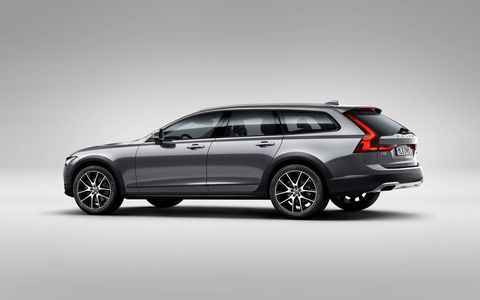 The T6 version of the 2017 Volvo V90 Cross Country has a turbo and supercharged four making 316 hp and 295 lb-ft of torque.