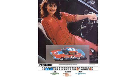 The 1983 Pontiac Excitement calendar, starring Natalie Carroll.