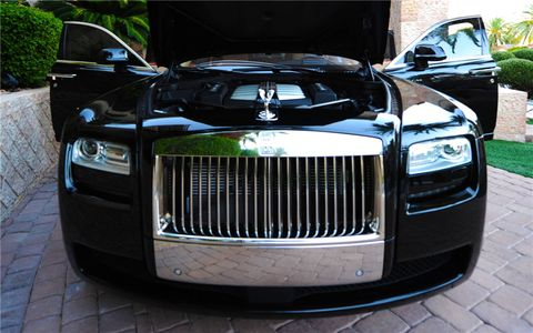 """The """"Pawn Stars"""" 2012 Rolls-Royce Silver Ghost Sedan (Lot #730) was owned by Rick Harrison of """"Pawn Stars"""" and went for $181,500."""
