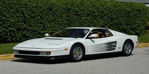 Jordan Belfort's 1991 Ferrari Testarossa is for sale.