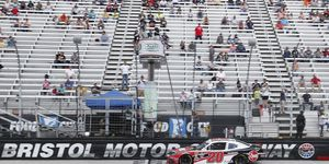 Christopher Bell led three times for 57 laps at Bristol.