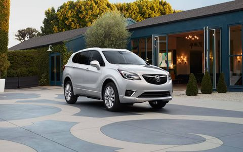 The 2019 Buick Envision comes with either a 197-hp, 2.5-liter four or a 2.0-liter turbo four making 252 hp and 295 lb-ft of torque.