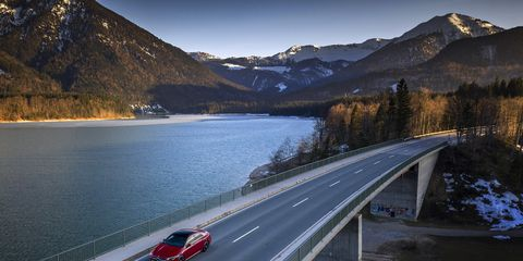 The 2020 Mercedes-Benz CLA 250 in action in Bavaria