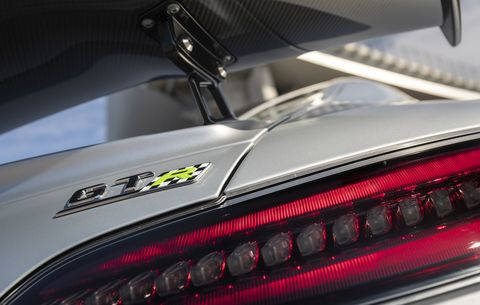 The 2020 Mercedes AMG GT R Pro in all of its carbon fiber, and other exotic material, detail
