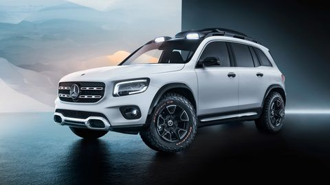 The Mercedes-Benz GLB concept premiered at the Shanghai auto show.