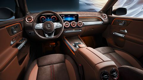 The interior of the Mercedes-Benz GLB concept looks almost production-ready.