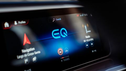 The 2020 Mercedes-Benz EQC Edition 1886 gets special logos and materials in the cabin.