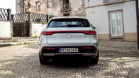 The 2020 Mercedes-Benz EQC Edition 1886 comes with two asynchronous motors making a total of 402 hp.