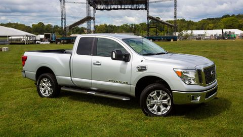 The 2019 Nissan Titan XD comes with a turbodiesel V8 making 310 hp and 555 lb-ft of torque.