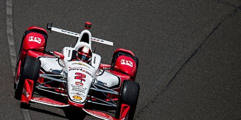Indy 500 winner Juan Pablo Montoya's entry was fined $500 for running over an air hose in his pits during Sunday's race.