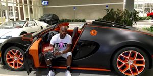 The 3.5-million Bugatti Veyron Grand Sport Vitesse is Floyd Mayweather's most recent acquisition. The open-top Veyron is capable of speeds as high as 250mph, and is as fast as you'd want to go without a roof or roll cage.